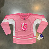 Golden Knights Juniors Reaves Pink and White Jersey