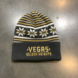Golden Knights Snowflake Cuffed Beanie