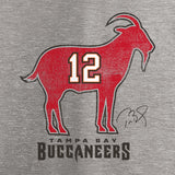 Tampa Bay Buccaneers Tom Brady GOAT T-Shirt - Heathered Gray