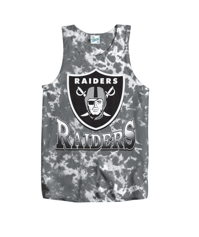 Las Vegas Men's Raiders Booker Tye Dye Vintage Tank