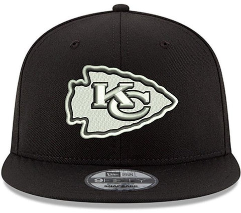 Kansas City Chiefs New Era B-Dub 9FIFTY Adjustable Hat - Black