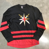 Golden Knights Men's Retro Reverse Center Ice Crew Long Sleeve