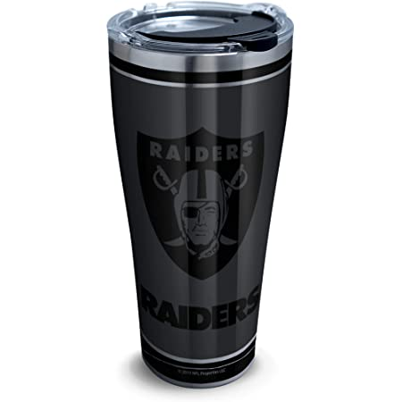 Raiders Stainless Steel Blackout 30oz Tumbler