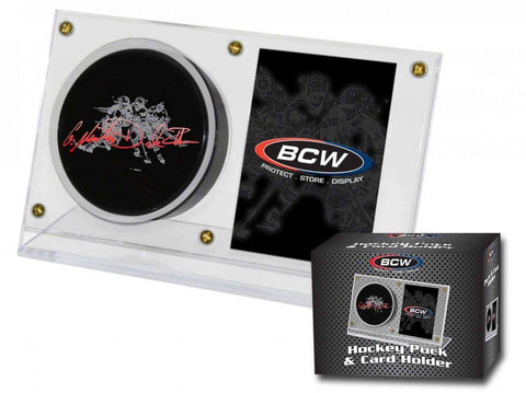 Hockey Puck & Card Holder