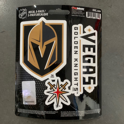 Golden Knights 3 Pack Decal Set
