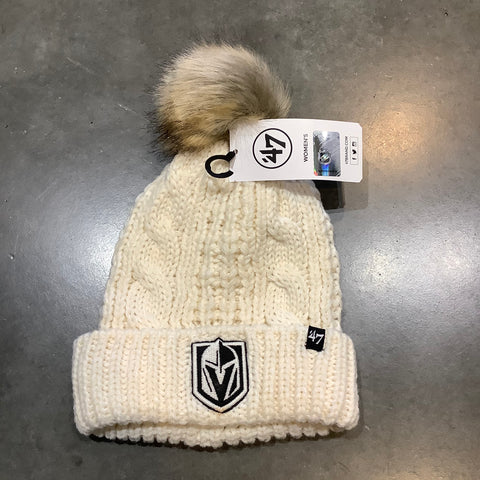 Golden Knights Meeko Knit Beanie - Cream