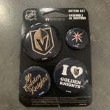 Golden Knights 4 Pack Buttons