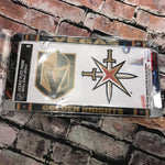 Golden Knights License Frame with Bonus Decal