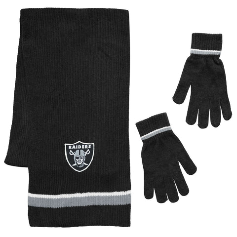 Raiders Chenille Scarf and Glove Set
