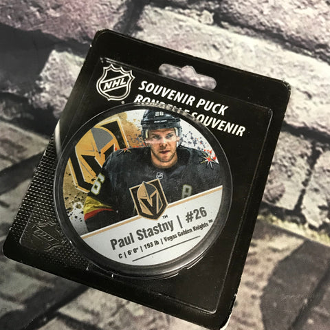 Golden Knights Paul Stastny #26 Souviner Player Puck