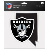 Las Vegas Raiders State Perfect Cut Decal 8 x 8