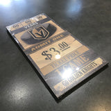 Golden Knights Ticket Sign