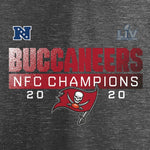Men's Tampa Bay Buccaneers Fanatics Branded Heather Charcoal 2020 NFC Champions Scramble T-Shirt