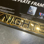 Golden Knights Chrome and Gold License Frame