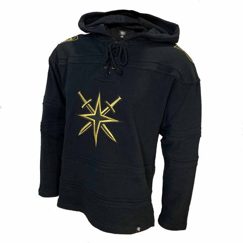 Golden Knights Men's Gold Alternate Logo Black Lacer Hood