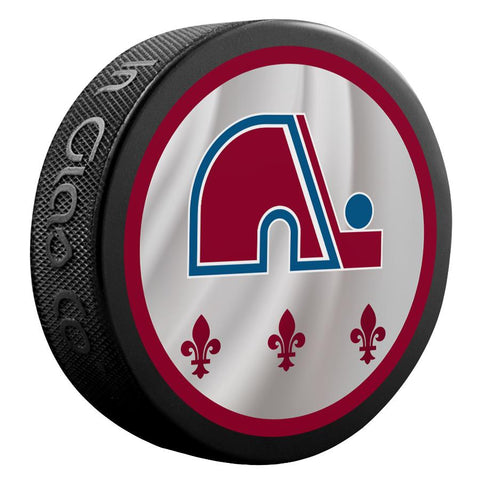 Colorado Avalanche Reverse Retro Jersey Logo Hockey Puck