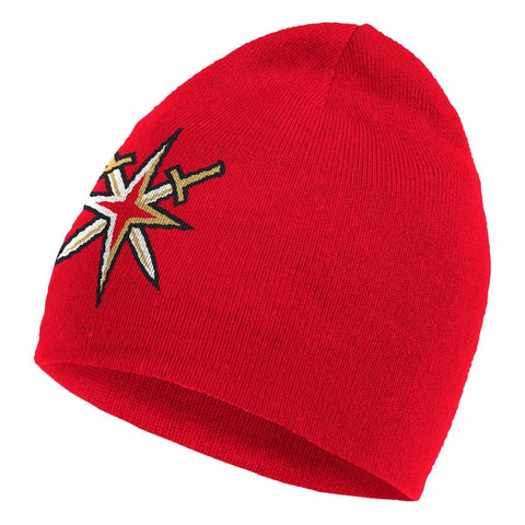 Golden Knights Retro Reverse Reversible Knit Cuffed Beanie - Red