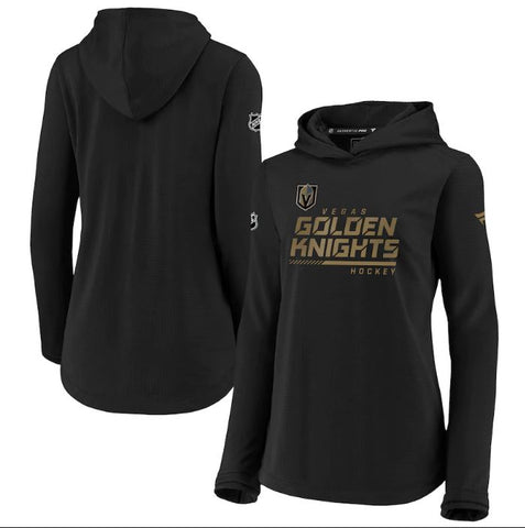 Vegas Golden Knights Fanatics Branded Women's Authentic Pro Pullover Hoodie - Black