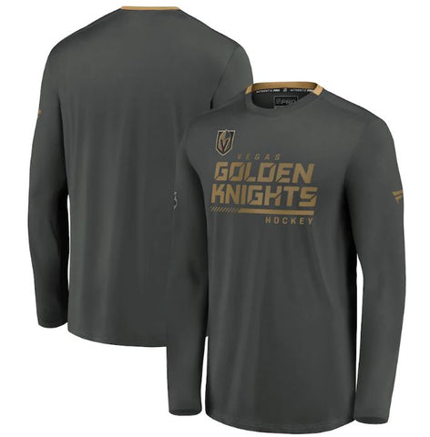 Vegas Golden Knights Fanatics Branded Authentic Pro Locker Room Performance Long Sleeve T-Shirt – Gray