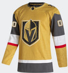 Vegas Golden Knights Alternate Authentic Adidas Gold Jersey Customization ***