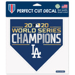 "Dodgers World Series Champions Perfect Cut Color Decal 8""x8"""