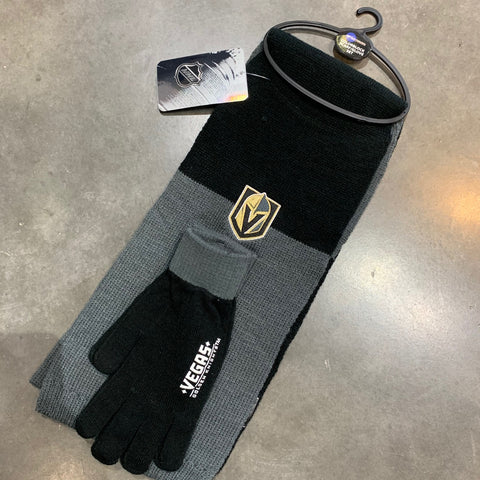 Golden Knights Scarf Set Black and Gray