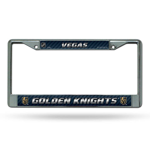Golden Knights Chrome License Plate