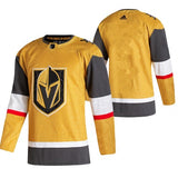 Vegas Golden Knights Adidas Gold 2020/21 Alternate Authentic Jersey