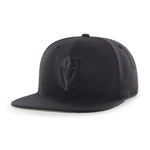 Golden Knights Fitted Black on Black Tonal Flat Bill Hat '47 Brand