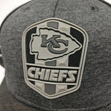 Kansas City Chiefs 2018 Road Graphite Sideline Hat - Medium / Large