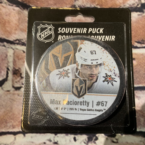 Vegas Golden Knights Max Pacioretty #67 Souvenir Player Puck AWAY