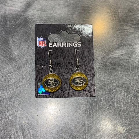 49ers Sparkle Dangle Earrings