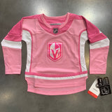 Vegas Golden Knights Girls Toddler Pink Youth Jersey