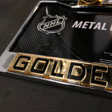 Golden Knights Chrome & Gold License Plate Frame