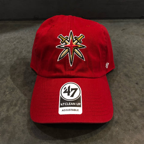 Golden Knights Red 47 Clean Up Slouch Adjustable Hat