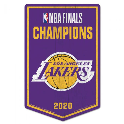 "Los Angeles Lakers 2020 World Champions Wood Sign 11""x17""x1/4"""