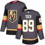 Vegas Golden Knights Men's Alex Tuch Gray Home Authentic Adidas Men's Jersey