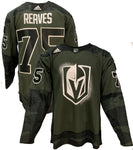 Golden Knights Military Appreciation Veterans Day Authentic Warm Up Jersey 2020 - Reaves