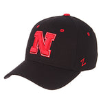 University of Nebraska Basic Logo Stretch Fit - Black