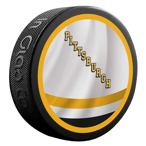 Pittsburgh Penguins Reverse Retro Jersey Logo Hockey Puck