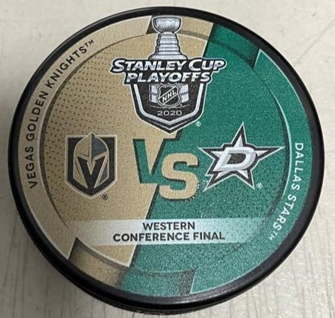 Vegas Golden Knights vs. Dallas Stars Round 3 Western Conference Final 2020 Stanley Cup Playoff Puck