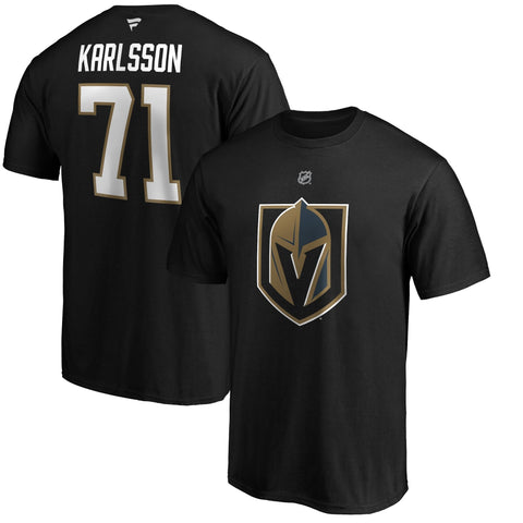 Golden Knights Karlsson Player T Shirt #71 - Black
