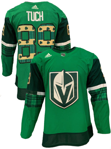 Golden Knights St. Patrick's Day Authentic Warm Up Jersey 2020-Tuch
