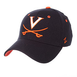 University of Virginia Basic Logo Stretch Fit - Navy