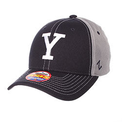 Yale University Relay Stretch Fit Hat - Navy/Gray