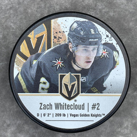 Golden Knights Zach Whitecloud #2 Player Puck