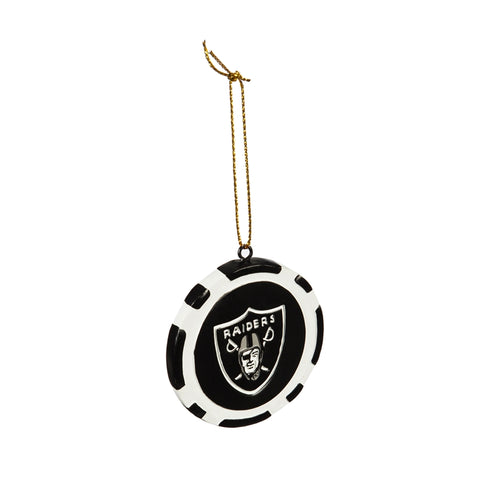 Las Vegas Raiders Game Chip Ornament
