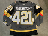 Vegas Golden Knights Home Gray Jersey Customization JERSEY NOT INCLUDED ***