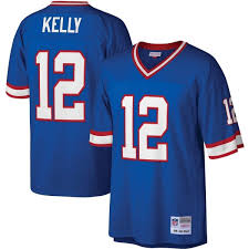Buffalo Bills Jim Kelly #12 Legacy Jersey - Blue