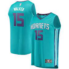 Hornets Kemba Walker #15 Fast Break Jersey - Teal